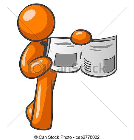 Clip Art of Orange Man News.