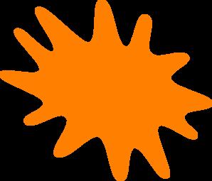 Orange Paint Splatter Clipart.