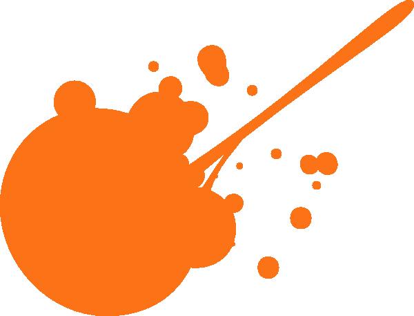 Orange Paint Splatter Clip Art at Clker.com.