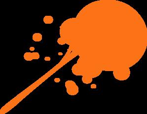 Orange Paint Clipart.