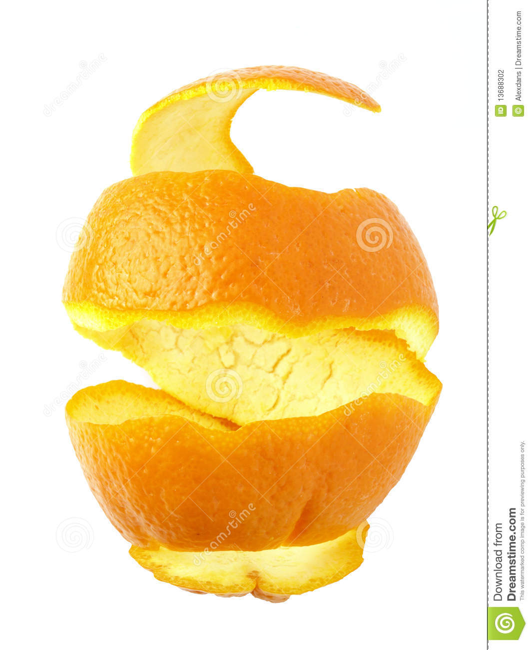 Orange Peel Stock Photography.