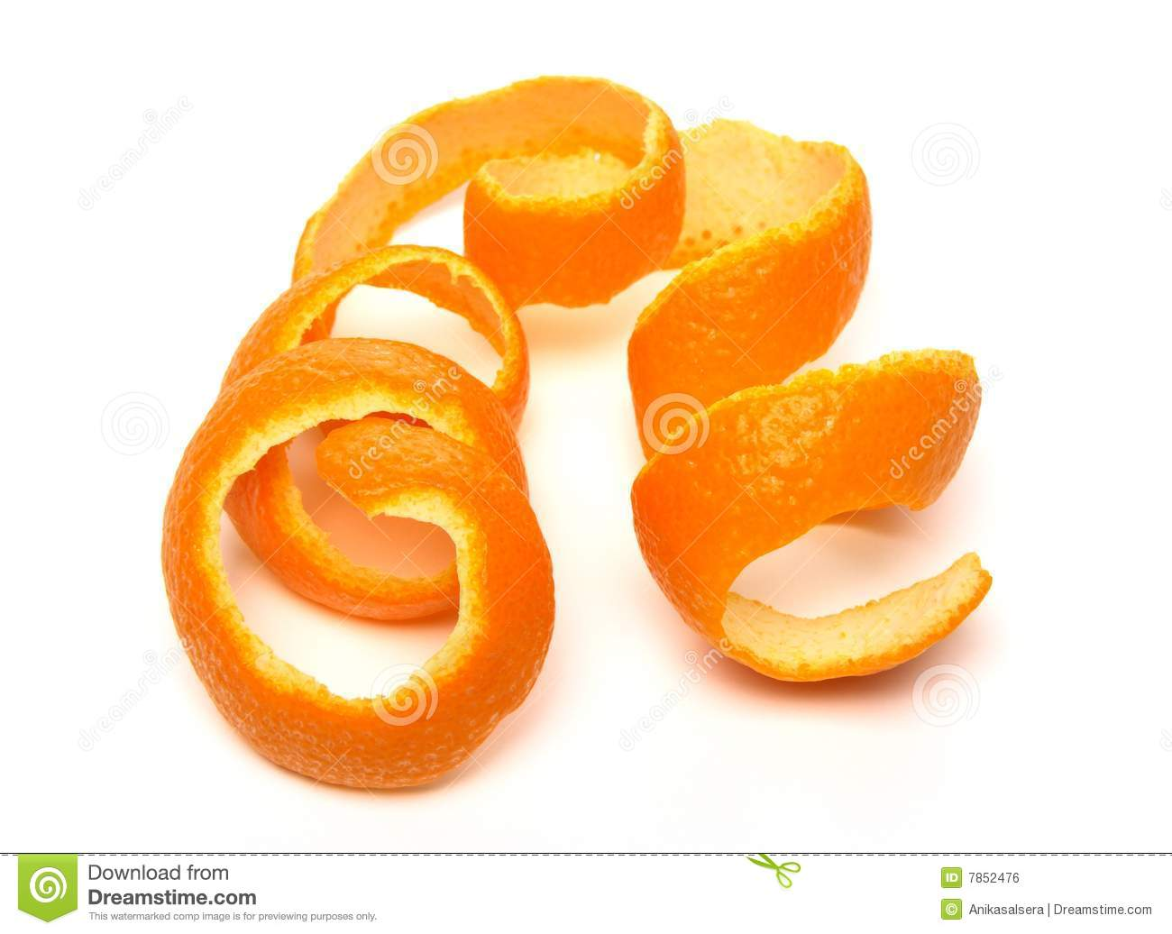 Orange Peel Spiral Stock Photo.