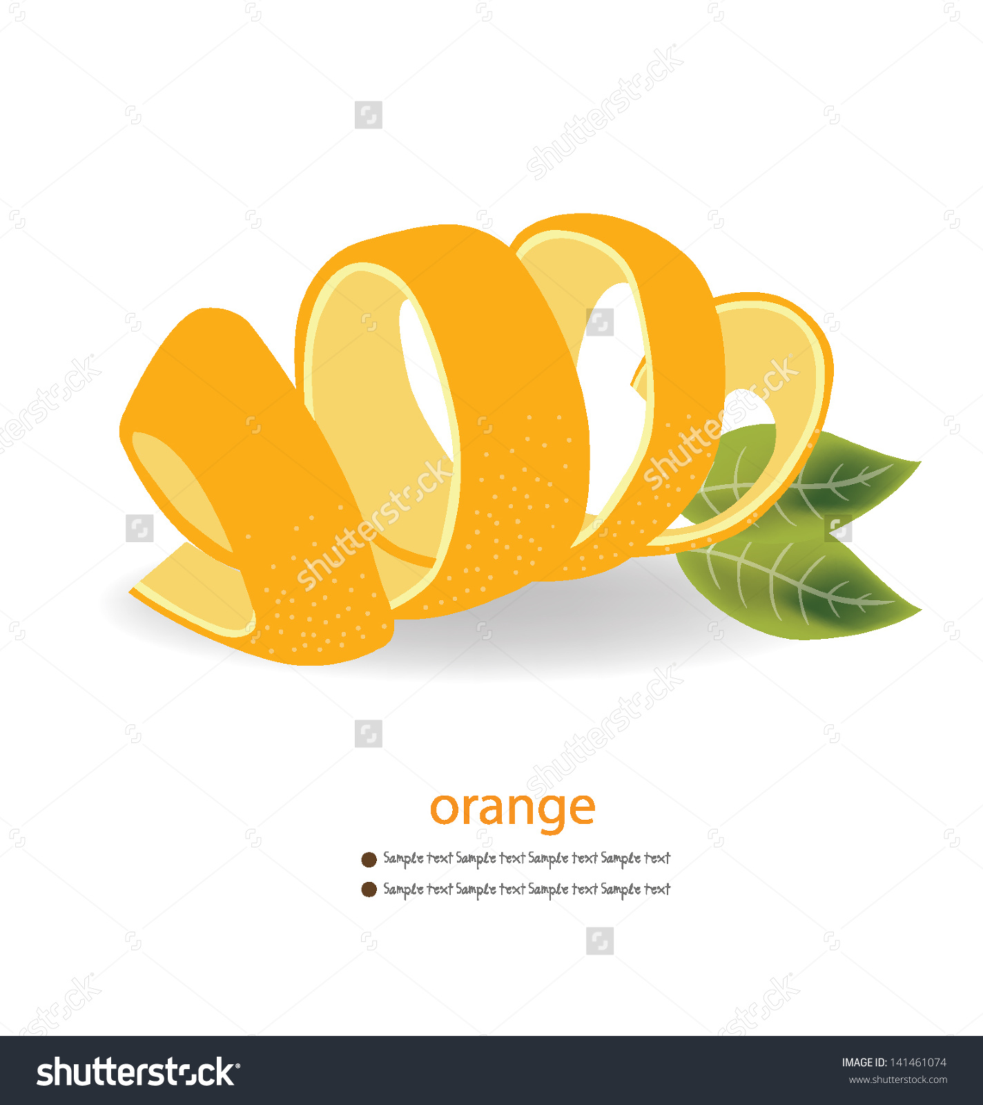 Orange Peel Vector Illustration Stock Vector 141461074.