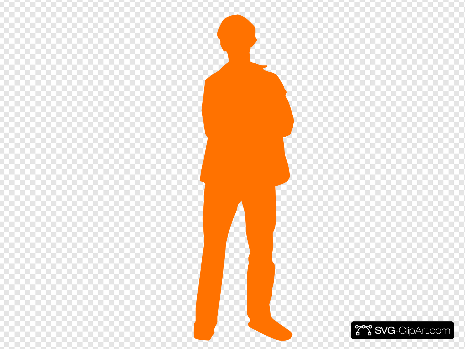 Solid Orange Man Person Clip art, Icon and SVG.