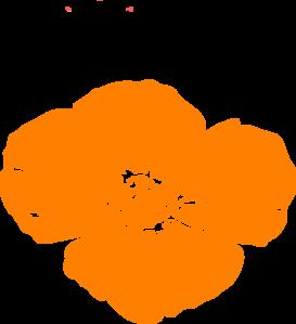 Orange Poppy Clip Art at Clker.com.