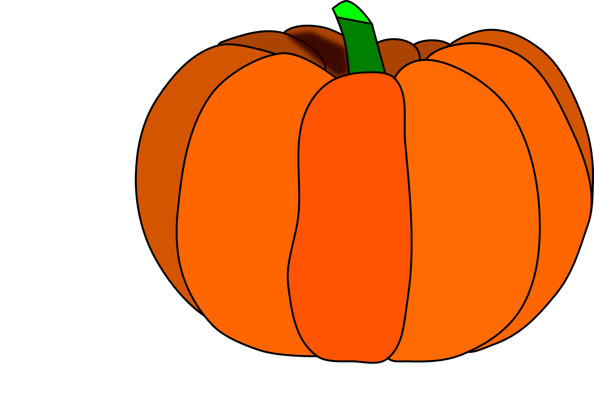 Orange Pumpkin Clipart.