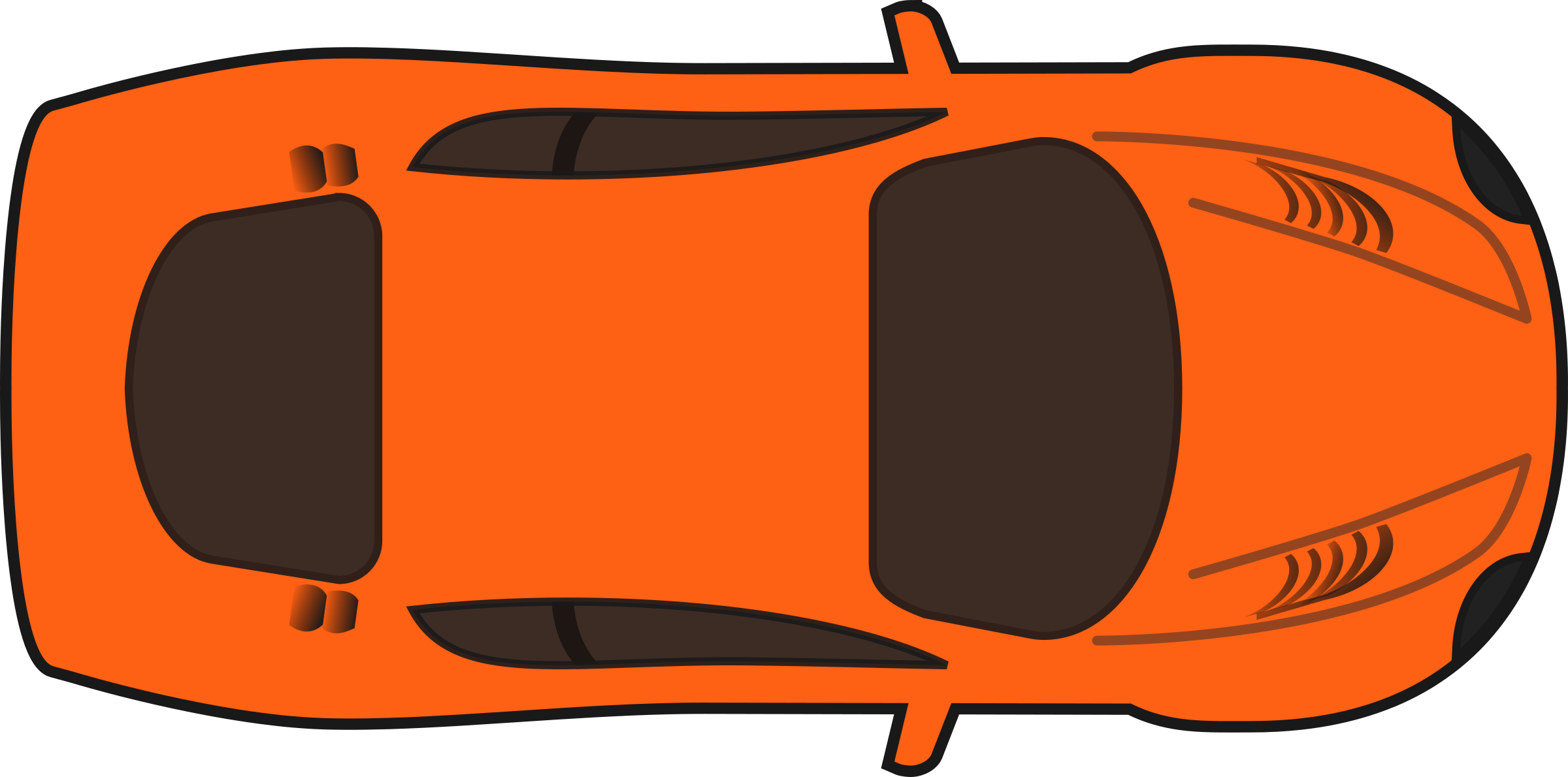 Orange Race Car Clip Art.