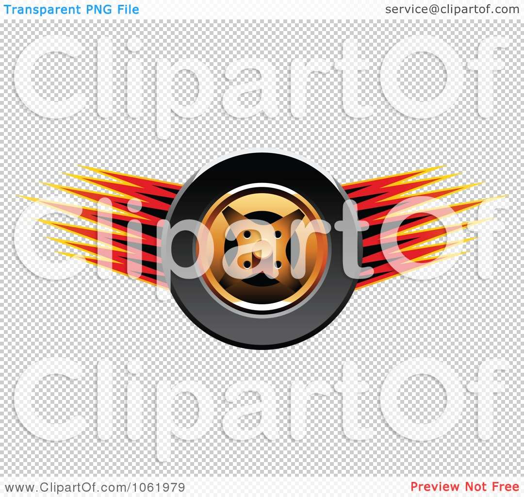 Clipart Fast Race Car Tire 1.
