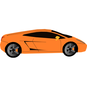 Orange Race Car Clip Art.