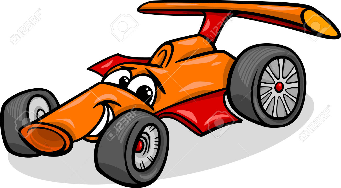 Funny Racing Car Vehicle Royalty Free Cliparts, Vectors, And Stock.