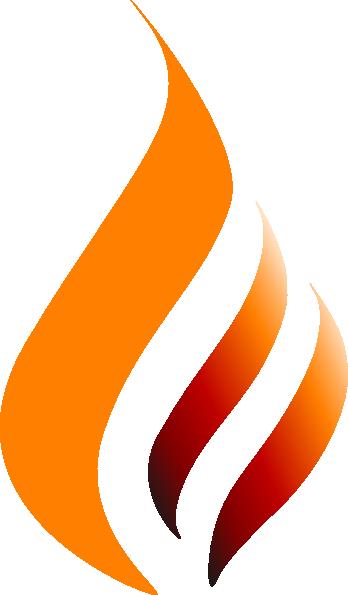 Orange Red Orange Logo Flame Clip Art at Clker.com.