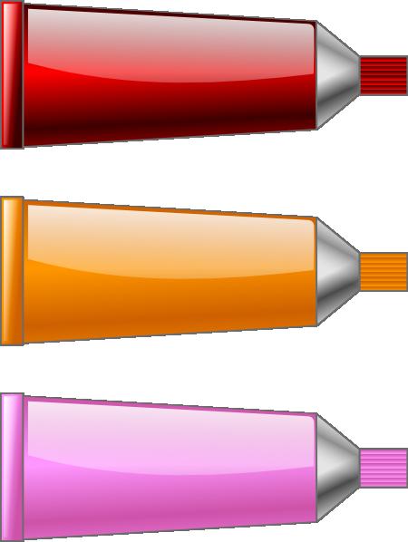 Color Tube Red Orange Pink Clip Art at Clker.com.