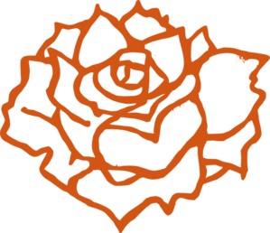 Burnt Orange Rose Clip Art at Clker.com.