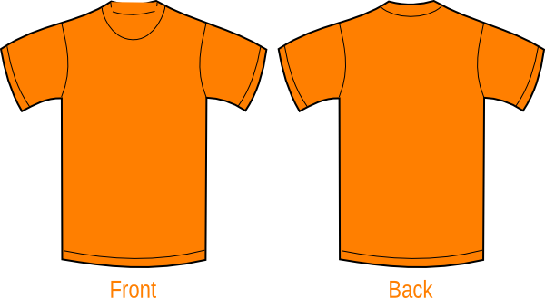 Plain Orange Shirt Clip Art at Clker.com.