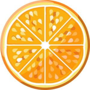 Orange Slice clip art.