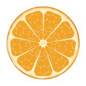 Orange slices clipart #10