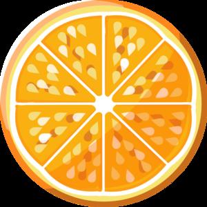 Orange Slice Clip Art at Clker.com.