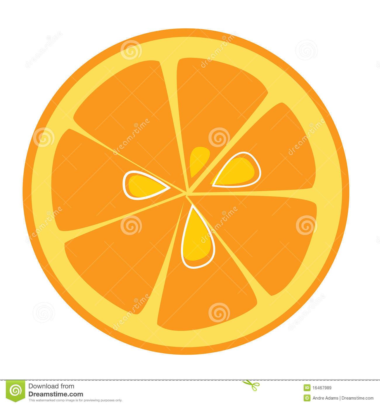 Wedge Orange Slice Clipart.