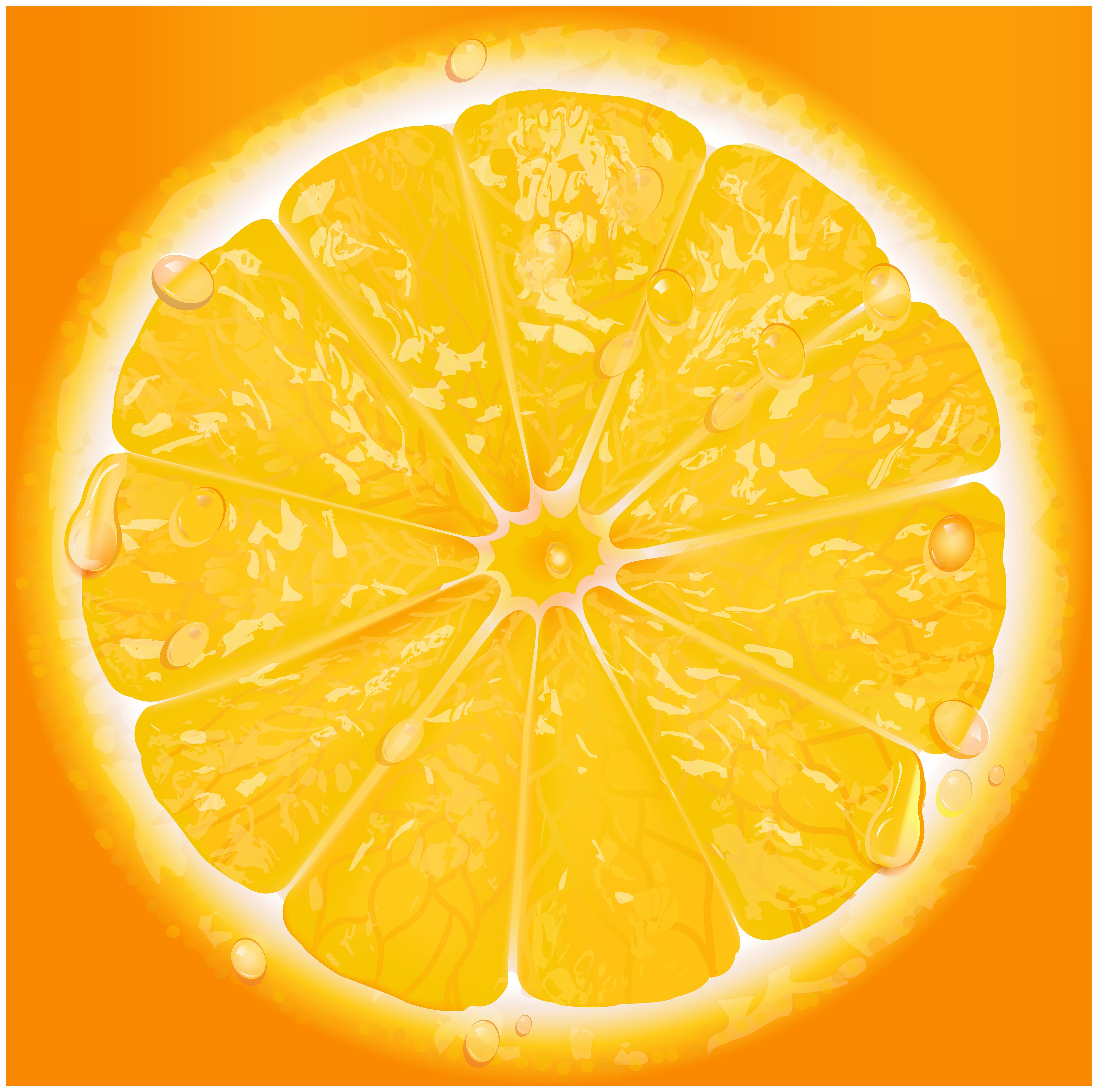 Orange Slice Transparent PNG Clip Art.