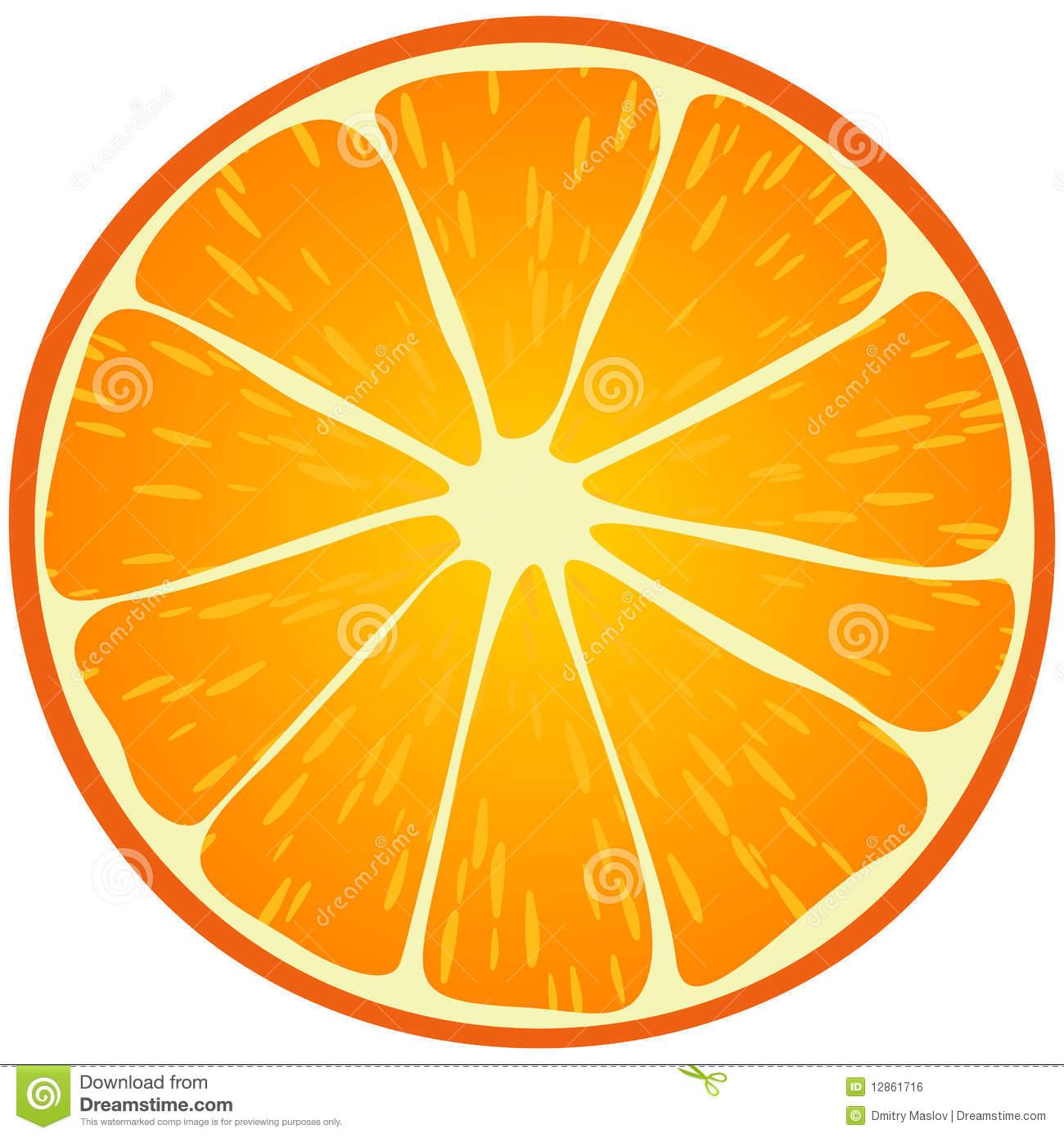 Orange Slice Clip Art.