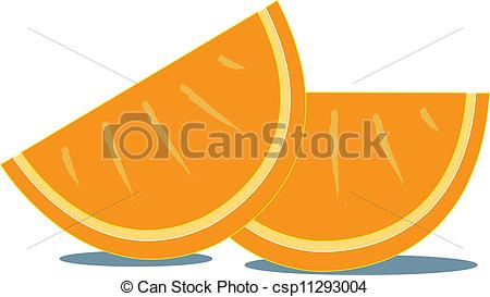 Orange slices clipart #17