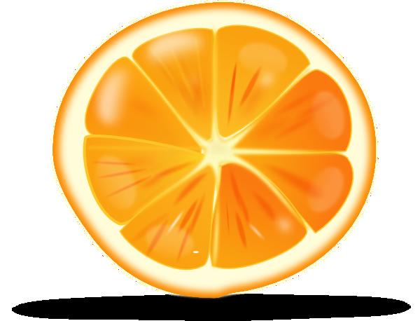 Orange slices clipart #18