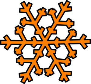 Orange Snowflake Clip Art at Clker.com.