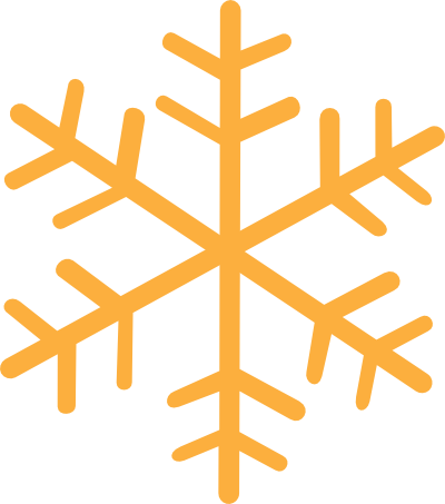 Orange Snowflake Clipart.