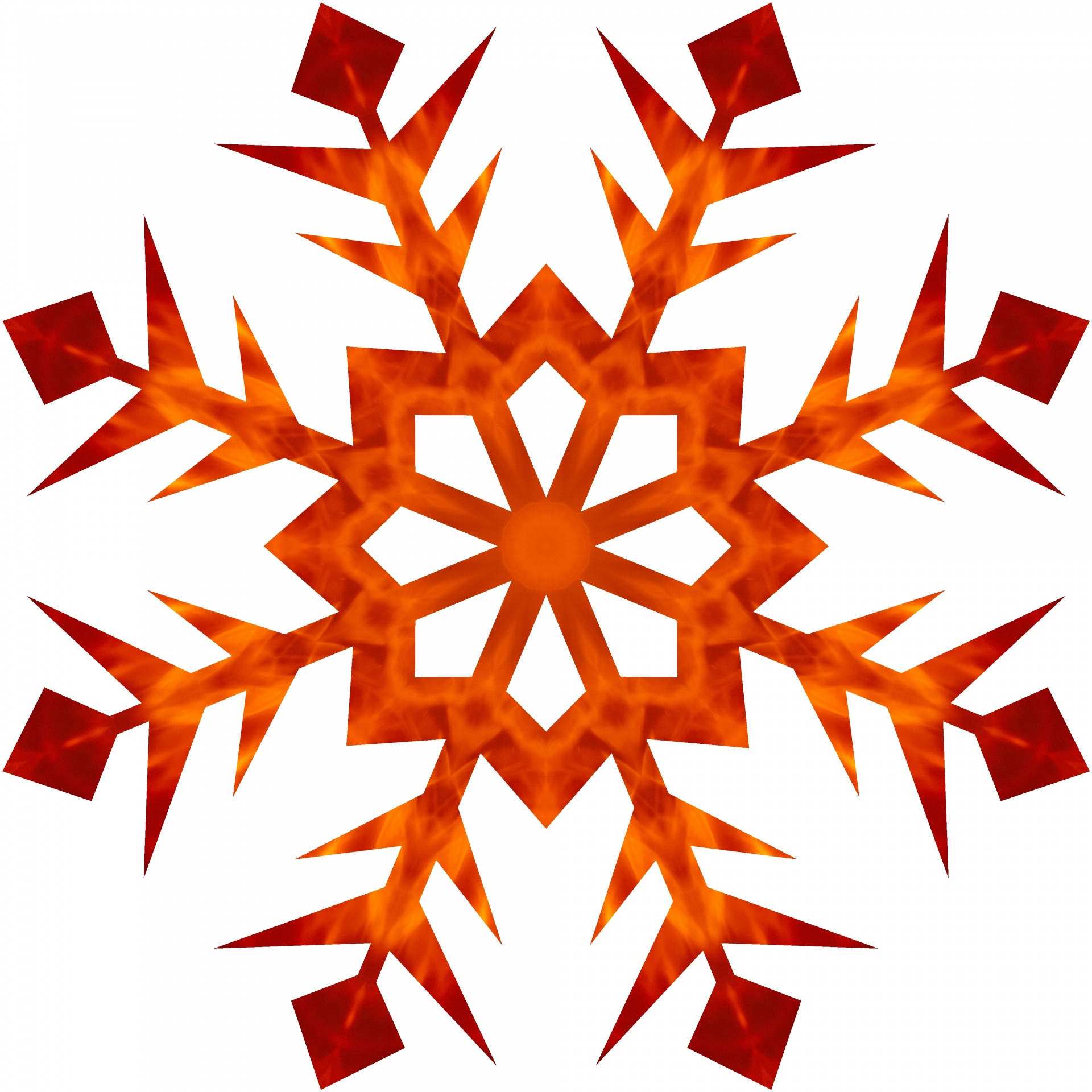 Orange,flame,snowflake,style,xmas.