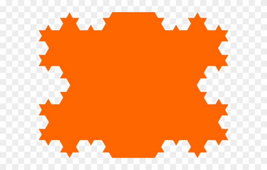 Snowflake Clipart Orange.