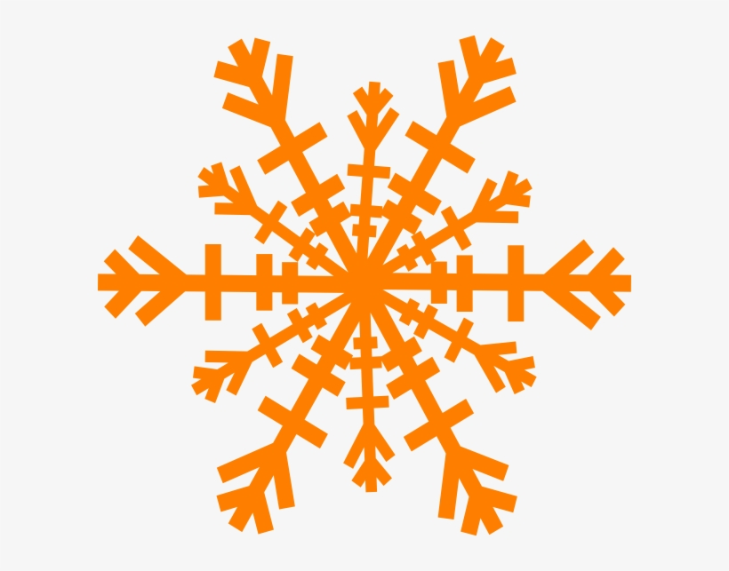 Clipart Snowflake Orange.