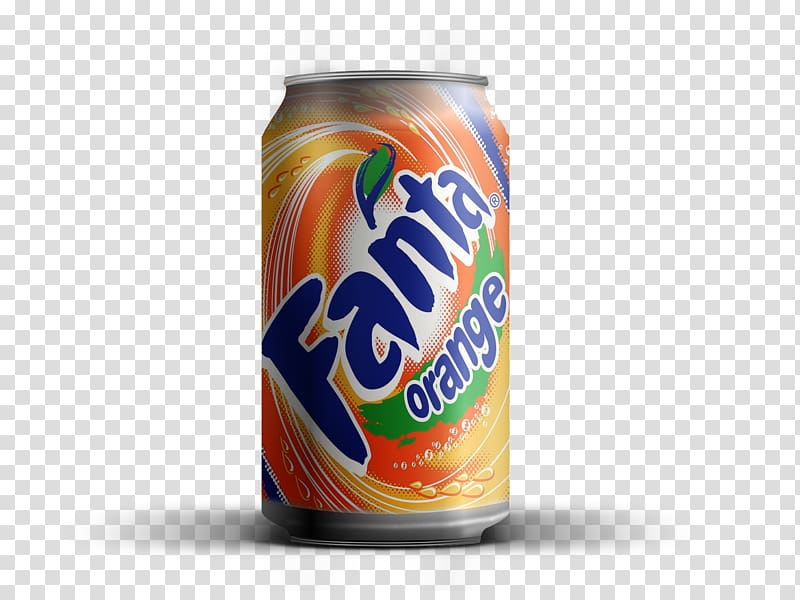 Fanta Orange soda can, Soft drink Fanta Beer Coca.