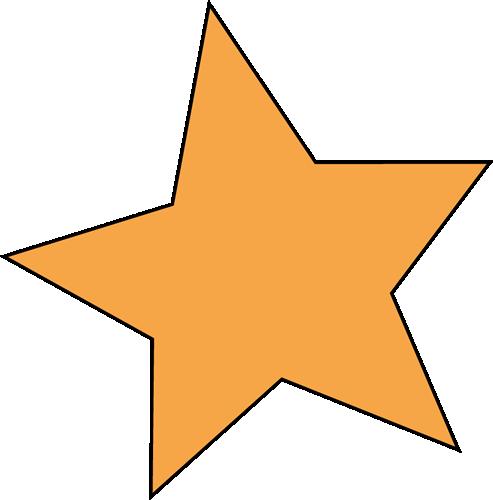 Orange Star Clip Art Image.