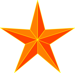 Orange Star Clip Art at Clker.com.