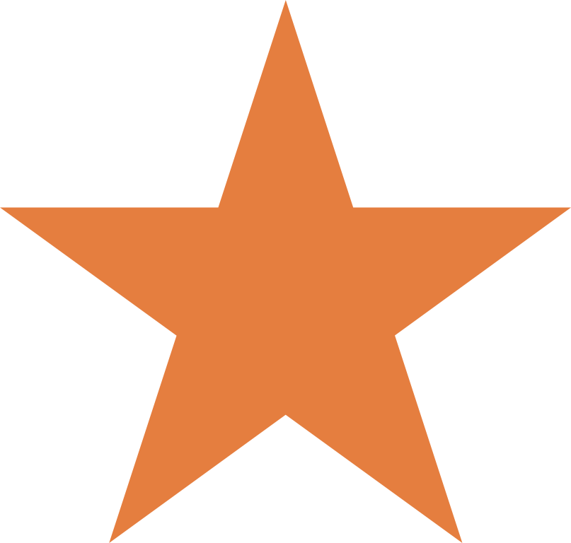 Download Orange Star Clip Art PNG Image with No Background.