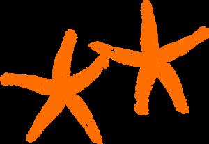 Orange Starfish Clip Art at Clker.com.