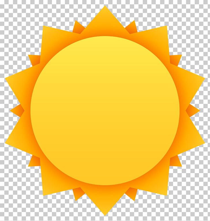 Cartoon , Sun , orange sun PNG clipart.