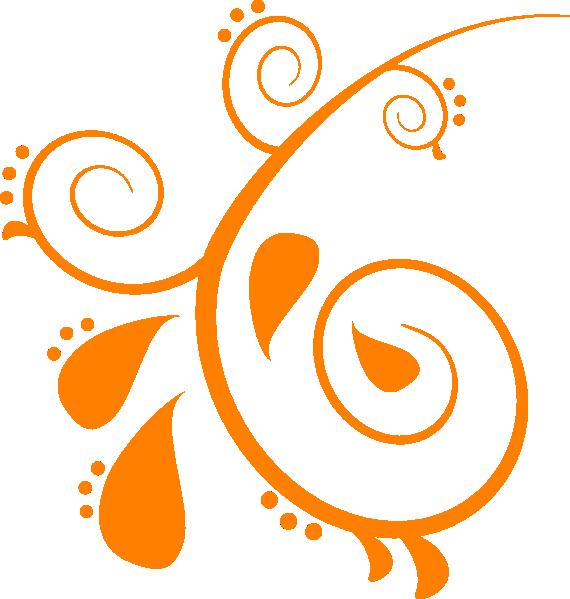 Orange Swirl Clip Art at Clker.com.