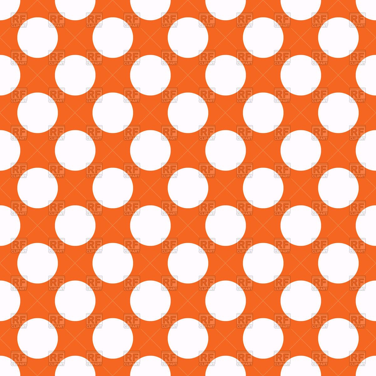 Orange seamless polka dot background Vector Image #42967.