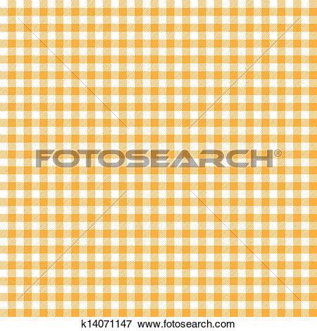 Clip Art of Orange checkered background k14071147.