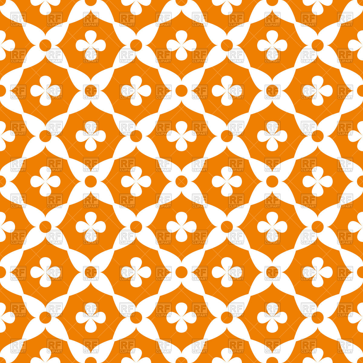 Abstract orange seamless wallpaper ornament Vector Image #52253.