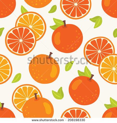 Vector Orange Pattern Stock Vector 101887696.