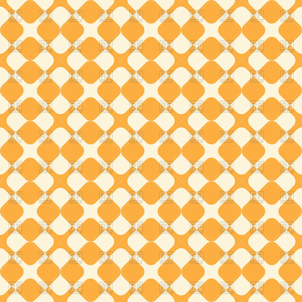 Yellow retro seamless pattern for textile Vector Image #71597.