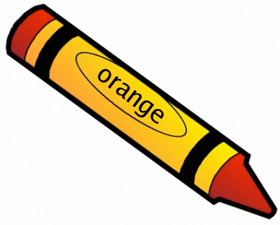 Crayon Orange 1 Clipart.