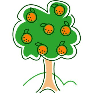 Free Cartoon Orange Tree, Download Free Clip Art, Free Clip.