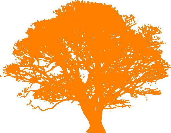 Cartoon Orange Tree.