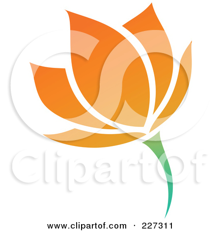 Clipart of Red Abstract Spring Tulip Flowers.