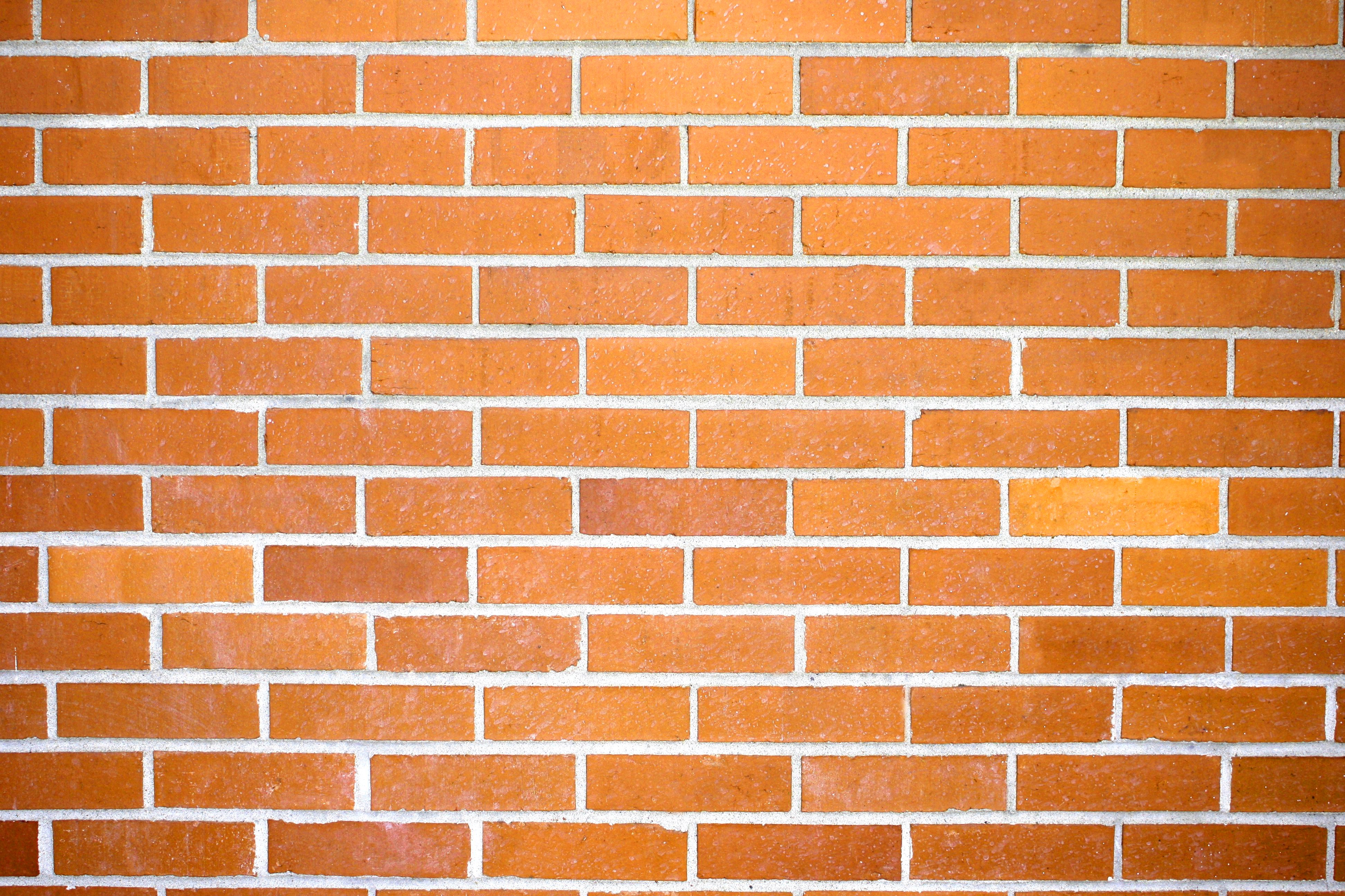 Orange Brick Wall Texture Picture.
