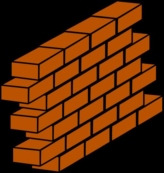 Orange Brick Wall Clip Art at Clker.com.