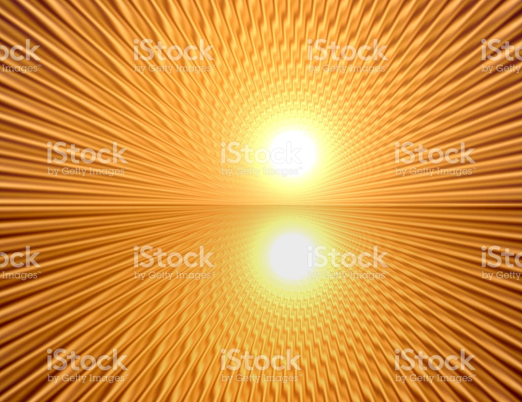 Rays In Abstract Orange Gold Universe stock vector art 485473627.